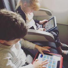 How did anyone travel with kids before iPads? Adelaide here we come! #hopeforislaandjude by hopeforislaandjude