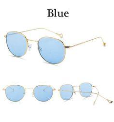 2017 Newest Retro Sunglasses Women Men Brand Design Clear lens Sunglasses woman Red Green Yellow Ocean lens Sunglasses UV400