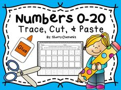 Numbers 0-20 Trace, Cut and Paste! Great for math centers and intervention groups to work on writing/ordering numbers 0-20 and fine motor coordination. Kindergarten and first grade math! $