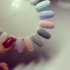 Various cable knit nails