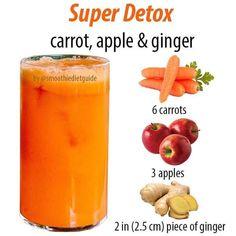 Smoothie Fruit, Diet Smoothie Recipes, Ginger Smoothie, Healthy Juice Recipes, Smoothie Ingredients, Healthy Juices, Healthy Detox, Smoothie Drinks, Smoothie Diet