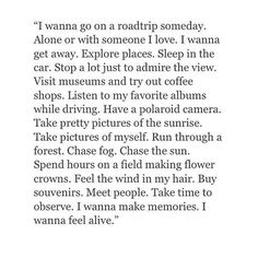 I want to roadtrip with you so bad♡