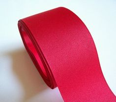 Wide Red Ribbon, Offray Red Grosgrain Ribbon 2 1/4 inches wide x 50 yards #Offray