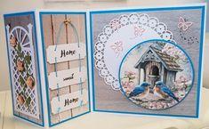 Home Sweet Home, tekst gemaakt in Word, afbeelding is van Jellie Design. Goud van Oud, gebruikte mallen van Marianne Design en Joy craft.