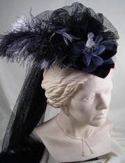 women's hats with plumes | Hat,Red Hat Society Hats,Vintage Victorian Ladies Touring Hats ...