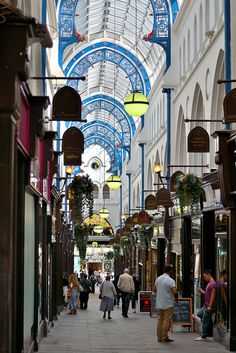 Thornton's Arcade, Leeds city centre by MJGPeace, via Flickr