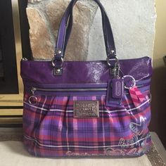 Gorgeous Coach Poppy  Barley used!!! Beautiful super clean not a scratch or stain on it! Large zipper inside and a cell phone pocket and another large pocket! Large outside zipper! % Authentic! No Trade Coach Bags Shoulder Bags