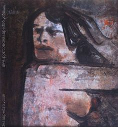 "Vicente Martín  ""Mujer"" Acrílico sobre cartón 23 X 22 cms. Año 1966 http://www.portondesanpedro.com/ver-producto.php?id=10762"
