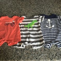 Carters 6 month boys rompers 6 month boys rompers.  Carters brand One Pieces
