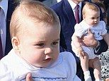 What a romper! Prince George looks fetching in his nautical themed outfit.