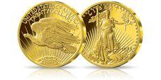 Kolekcjonerska replika złotej monety Double Eagle