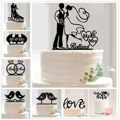 3.14AUD - Acrylic Wedding Cake Topper Mr & Mrs Cake Topper Unique Wedding Keepsake Gift #ebay #Home & Garden