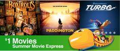 2015 Regal $1.00 Summer Movie Schedule