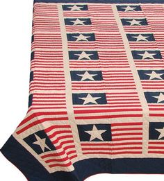 Tea dyed stars and stripes quilt. £116.99  http://www.worldstores.co.uk/p/Woven_Magic_Independence_Day_Tea_Dyed_Quilt.htm