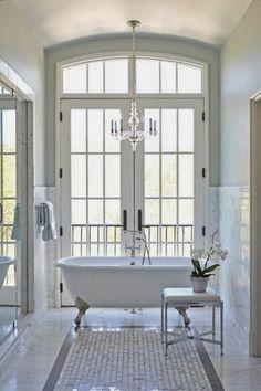 Found in Translation - white bathroom Birmingham Home & Garden - May/June 2013 - Birmingham Bad Inspiration, Bathroom Inspiration, Interior Inspiration, Dream Bathrooms, Beautiful Bathrooms, White Bathrooms, Luxury Bathrooms, Master Bathrooms, Ideas Baños