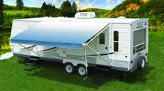 RV Trailer CAREFREE CO Fiesta Patio Awning Spring Assisted Awning