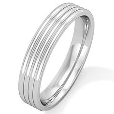 Style Sanctuary - Stainless Steel Ring with Ribbed Design, Stainless Steel Rings, Fashion Rings, Rings For Men, Fashion Accessories, Engagement Rings, Bracelets, Silver, Jewelry, Design