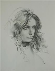 Pietro Annigoni - Study of a Woman