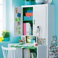 Un buffet transformé en bureau d'enfant - Marie Claire Idées