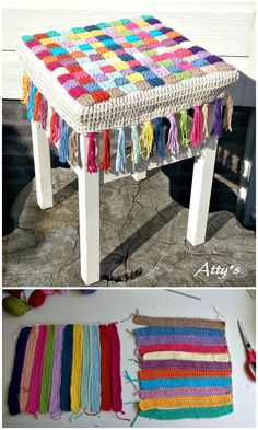 Free Crochet Stool Cover Photo Pattern - 25 Free Crochet Patterns for Beginners step by step – 101 Crochet