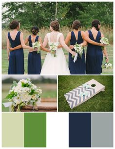 Wilton Photography | Navy Blue, Green and Gray love the colors for master bedroom