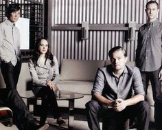 "Joseph Gordon-Levitt with his ""Inception"" co-stars Cillian Murphy, Ellen Page, and Leonardo DiCaprio......"