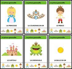 Jeu des sept familles des contes traditionnels : Le prince grenouille Grande Section, French Language, Fairy Tales, Animation, Education, Comics, Reading, School, Preschools