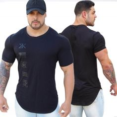 2018 Men Summer Fashion Leisure t Shirt Fitness Bodybuilding Muscle male Short Slim fit Shirts Cotton Tee tops clothing Bodybuilding T Shirts, Fitness Bodybuilding, Gym Shirts, Workout Shirts, Workout Outfits, T Shirt Fitness, Fitness Wear, Silk T Shirt, Fitness Fashion