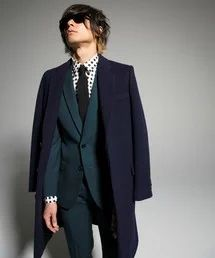 LITHIUM HOMME LITHIUM HOMME(リチウムオム)のFLY-FRONT CHESTERFIELD COAT(その他アウター)|ネイビー | Sumally