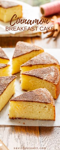 A little bit coffee cake a little bit tea cake and a lot like a big soft snickerdoodle this Cinnamon Breakfast Cake is so good! The post Cinnamon Breakfast Cake appeared first on Win Dessert. Breakfast Hotel, Breakfast Cake, Brunch Cake, Brunch Food, Sweet Breakfast, Brunch Recipes, Cake Recipes, Dessert Recipes, Breakfast Recipes