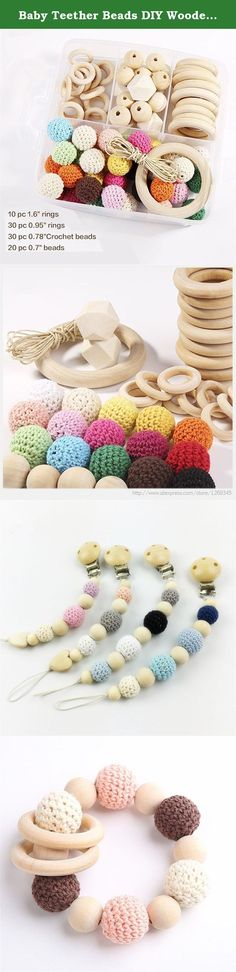 Baby Teether Beads DIY Wooden Rings Crochet Set Diy Nursing Teething Necklace Set Eco Baby New Baby Accessories Nursing Teether. Welcome To Mamimami home. About Our Products: 1.Our wooden teether have passed CE/EN71-3/EN71-2 certificate. 2.Our silicone teether have passed CE /FDA /BPA FREE/EN71-3/Australian standard certificate. Attention: 1.All toys are made of natural materials and are safe for babies and children. But please don't leave your child unattended with this toy. 2.The color…