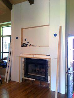 Rebuilding fireplace mantle