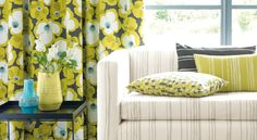 Villa nova makela fabrics and wallpapers available from Nocturnal Interiors Bangor Villa, Fabric Houses, Outdoor Fabric, Modern Architecture, Contemporary Design, Fabric Design, Ottoman, Upholstery, Indoor