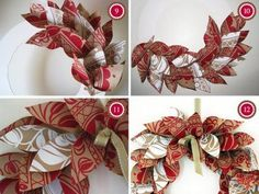ghirlanda fai da te in carta  paper decoration