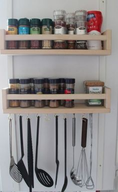 IKEA's versatile Bekvam spice rack can be used for many different purposes! Check out these 25 ways to use IKEA Bekvam spice racks around your home. Kitchen Utensil Organization, Kitchen Utensil Holder, Kitchen Storage, Kitchen Utensils, Organization Ideas, Ikea Kitchen Rack, Cooking Utensils, Diy Storage, Storage Ideas