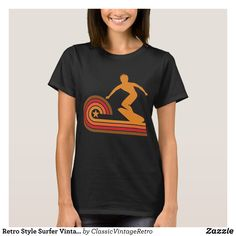 Retro Style Surfer Vintage Surfing T-Shirt - Fashionable Women's Shirts By Creative Talented Graphic Designers - #shirts #tshirts #fashion #apparel #clothes #clothing #design #designer #fashiondesigner #style #trends #bargain #sale #shopping - Comfy casual and loose fitting long-sleeve heavyweight shirt is stylish and warm addition to anyone's wardrobe - This design is made from 6.0 oz pre-shrunk 100% cotton it wears well on anyone - The garment is double-needle stitched at the bottom and…