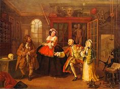 Hogarth, The Visit to the Quack doctor 1743