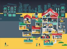 Home of Future by Samsung - Jing Zhang illustration