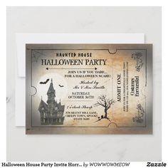 Halloween Logo, Horror Halloween Costumes, Halloween Images, Halloween House, Halloween Design, Halloween Gifts, Halloween Themes, Halloween Costume Party Invitations, House Party
