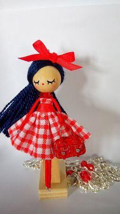 collar de muñeca/ doll necklace, Bisutería, Collares