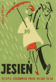 Polish matchbox label Autumn