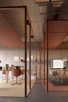 The Scandinavian Office. The Scandinavian Office. Industrial Office Design, Office Space Design, Modern Office Design, Workspace Design, Modern Industrial, Contemporary Office, Industrial Table, Corporate Design, Corporate Interiors