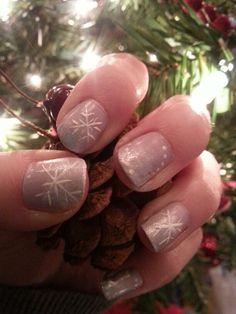 Soft Snowflake Nails by Kayla W.