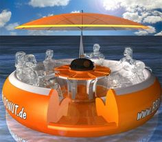 Too cool!  Hello, I love this.  This is the best invention for chilling on a lake.