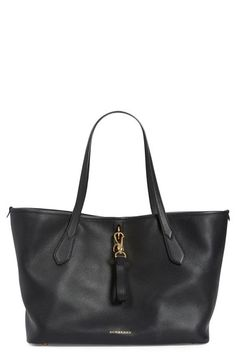 Burberry 'Medium Honeybrook' Leather Tote available at #Nordstrom