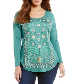 Shop for Lucky Brand Plus Round Neck Long Sleeve Flower Frame Graphic Tee at Dillards.com. Visit Dillards.com to find clothing, accessories, shoes, cosmetics & more. The Style of Your Life.
