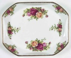 Royal Albert OLD COUNTRY ROSES Rectangular Tray 2246028 Seller's Reference:ROAOLCR_TRAREC - 7 3/4 inches SKU:2246028. This is a Rectangular Tray in the OLD COUNTRY ROSES pattern made by Royal Albert.