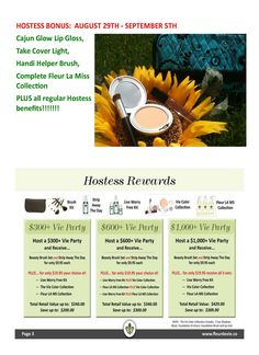 Labor Day Weekend great specials for hostesses!