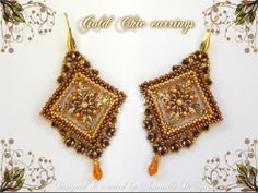 Gold Chic earrings - designed & created by Antonella Di Spigno (MeiBijoux 2014).  Pattern on Etsy: https://www.etsy.com/it/listing/186411677/schema-perline-orecchini-gold-chic-pdf?ref=shop_home_feat_3  Pattern on Craftsy: http://www.craftsy.com/pattern/jewelry/earrings/beading-pattern-gold-chic-earrings/96562  MeiBijoux fan page: https://www.facebook.com/244434058927046/photos/a.654831581220623.1073741835.244434058927046/655817337788714/?type=3&theater