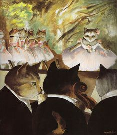 Orchestra of the Paris Opera (Edgar Degas) by Susan Herbert from Impressionist Cats Crazy Cat Lady, Crazy Cats, Gatos Cats, Cat People, Cat Drawing, Cat Life, I Love Cats, Pet Portraits, Cat Art